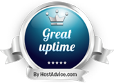 HostAdvice Great Uptime Award for Blazing Fast Host